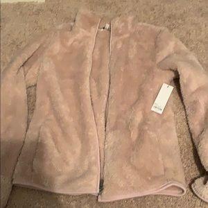 Fluffy pink jacket
